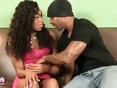 Ebony t-girl doesn`t mind to have some sex fun on her break.